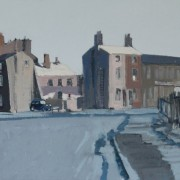 Browning Street/Vincent Street, oil on board 30 x 42 cms
