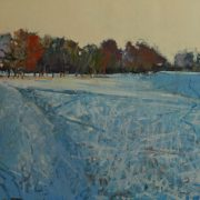Setting Sun Snow, oil on canvas 61 x 76 cms POA