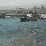 Thames Scene 1, oil on board 40 x 28 cm POA