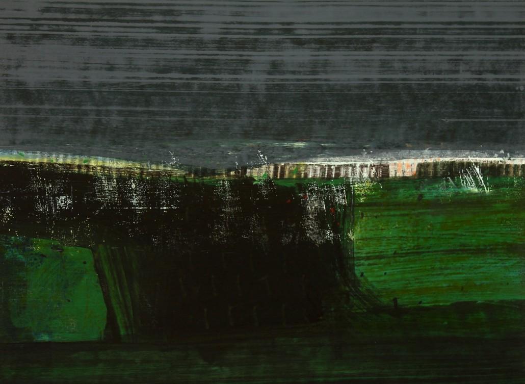 Argonaut 2, acrylic on paper 45 x 60 cms