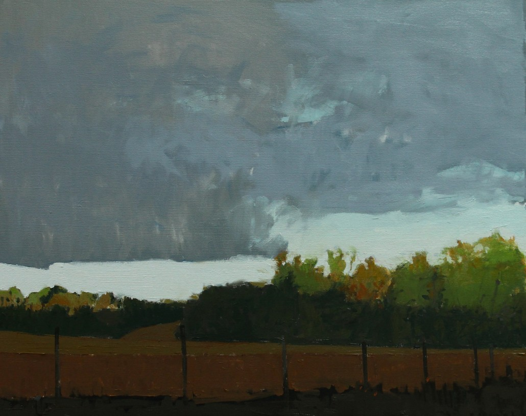 Woodland-Storm--oil-on-canvas--24-x-30-ins