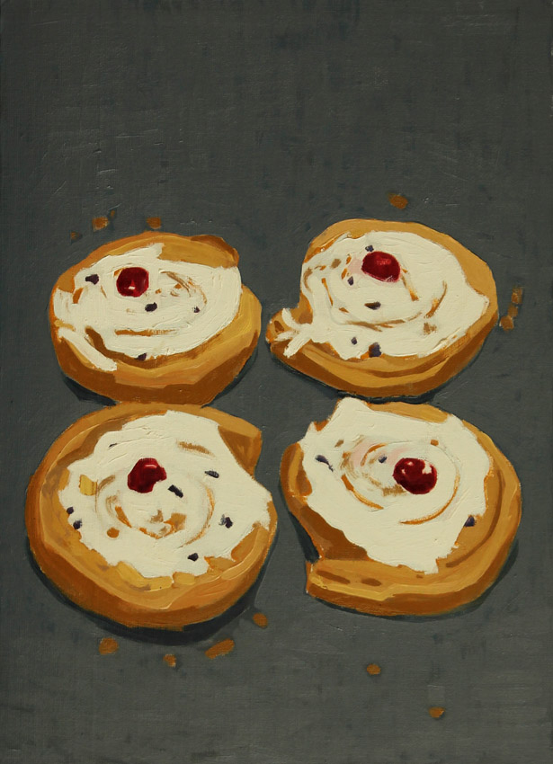 Belgian-Buns-oil-on-board-16-x-12-ins