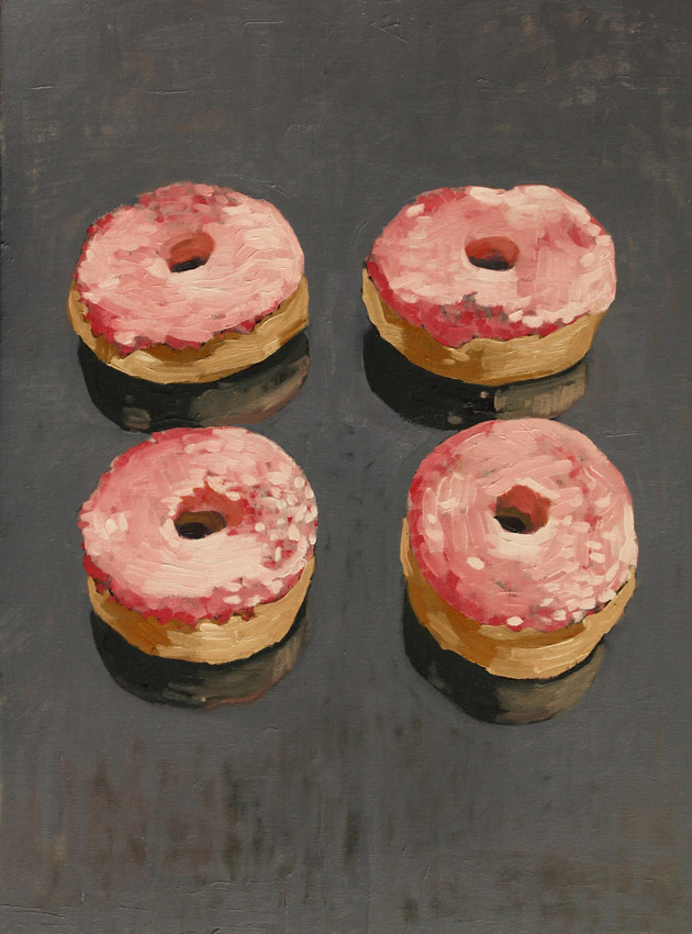 Doughnuts-oil-on-canvas-24-x-18-ins
