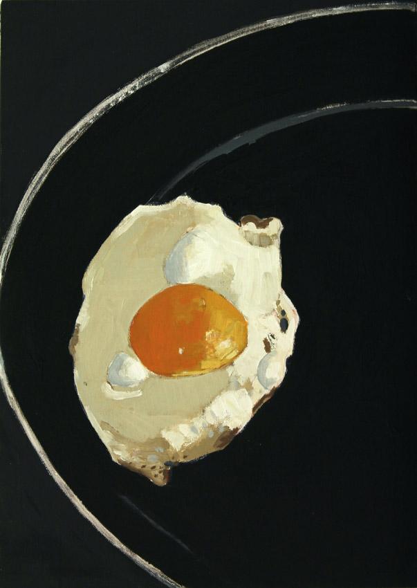 Fried-Egg-oil-on-board-16-x-12-ins