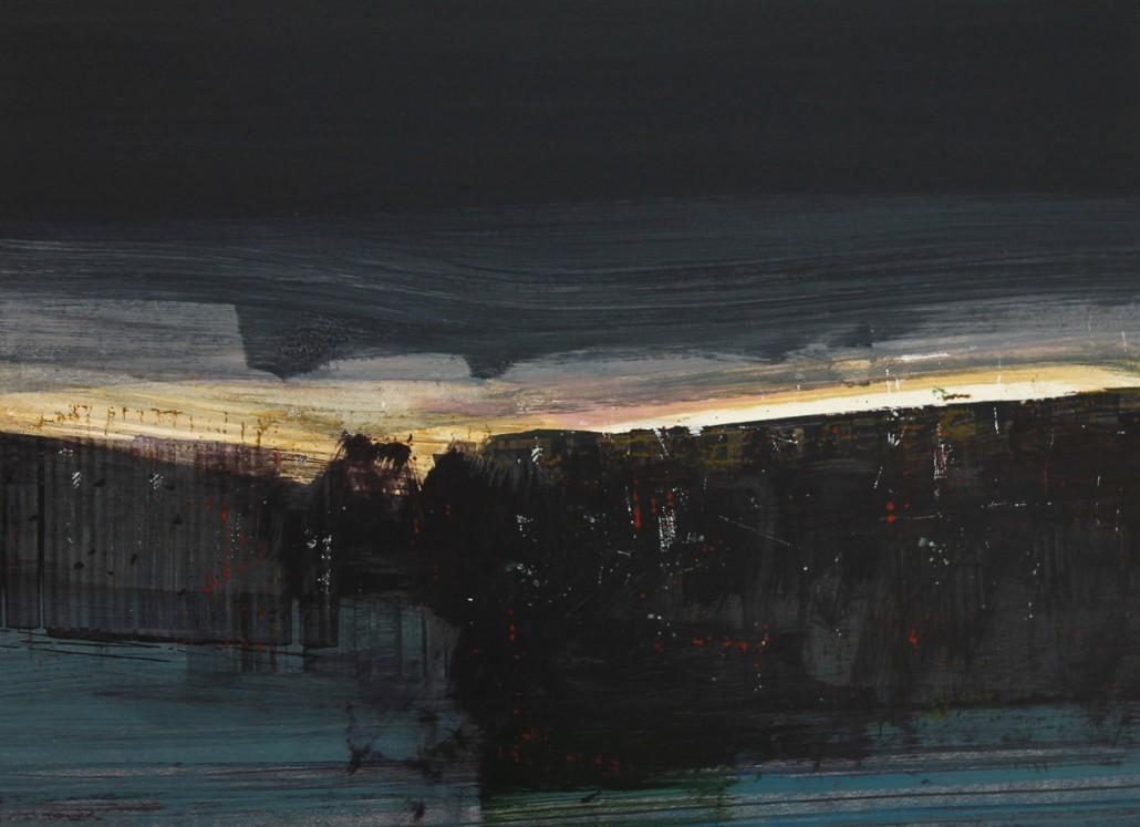 Cold Coast 8, acrylic on paper 46 x 60 cm POA