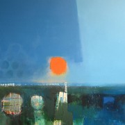 Fairlight Blue, acrylic on canvas 90 x 120 cms