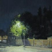 Garden Wall Night, oil on canvas 76 x 51 cm POA