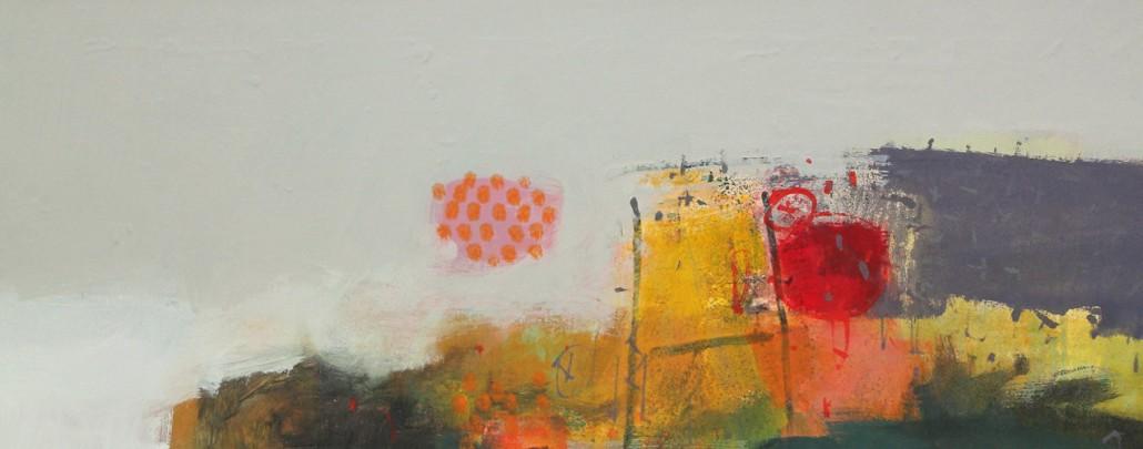 Homeward 3, mixed media on paper 37 x 90 cm POA