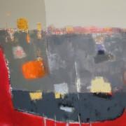 Landings, acrylic on canvas 120 x 150 cms