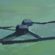 Low Light Fields, oil on canvas 30 x 76 cms