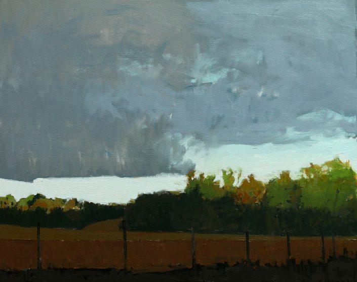 Woodland Storm, oil on canvas 61 x 76 cm POA