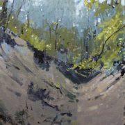Woodland Walk, oil on board 41 x 31 cms POA