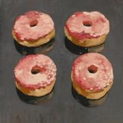 Doughnuts, oil on canvas 61 x 46 cm POA