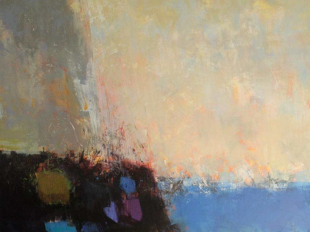 Deep Pools, acrylic on canvas