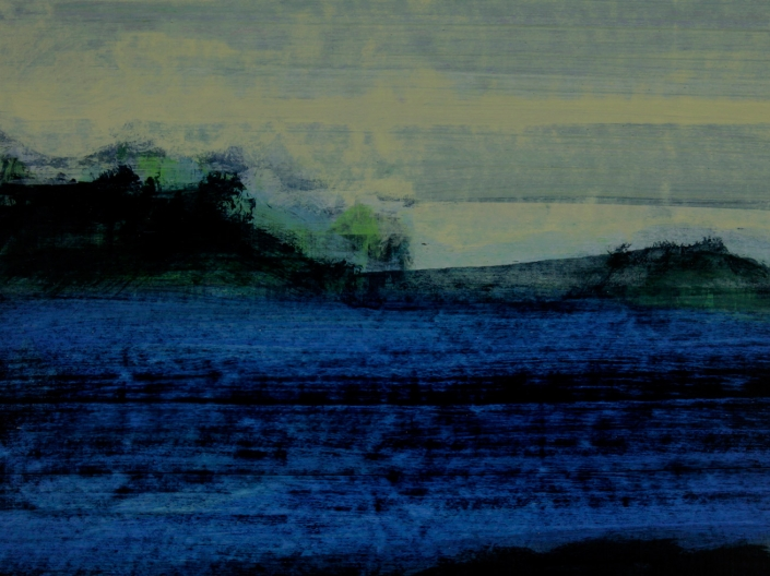 Incident 5, acrylic on paper 46 x 60 cm