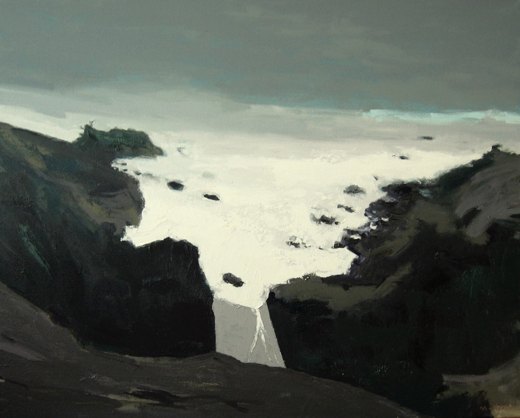 Cold Coast, oil on canvas 24 x 30 ins