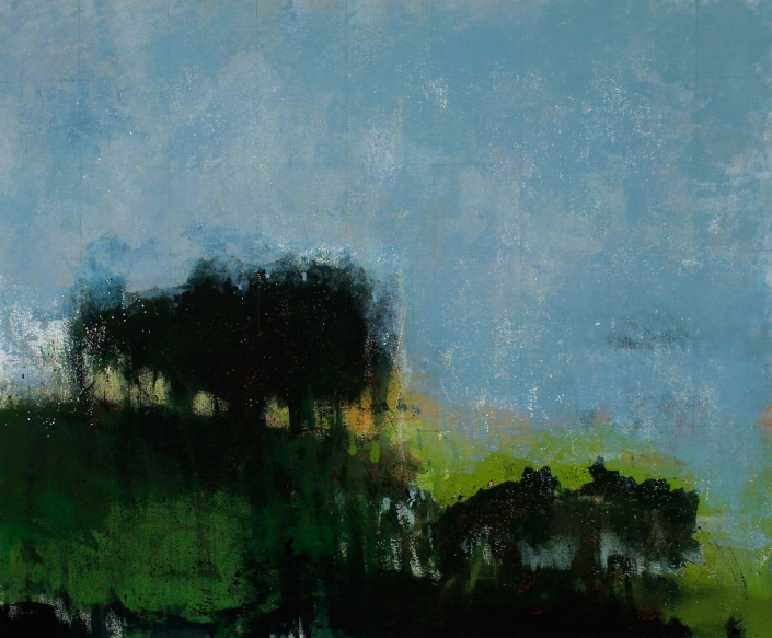 Fortress, acrylic on canvas 76 x 90 cms POA