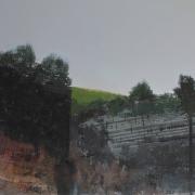 Gorge, acrylic on canvas 76 x 90 cm POA
