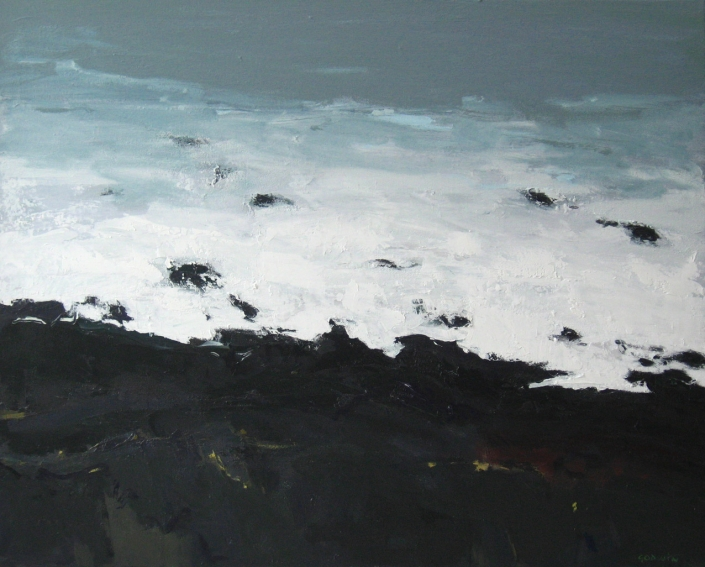 Margin, oil on canvas 24 x 30 ins