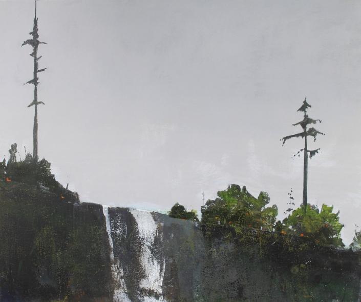 Overfall, acrylic on canvas 76 x 90 cms POA