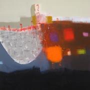 Scoop, acrylic on canvas 76 x 60 cms POA
