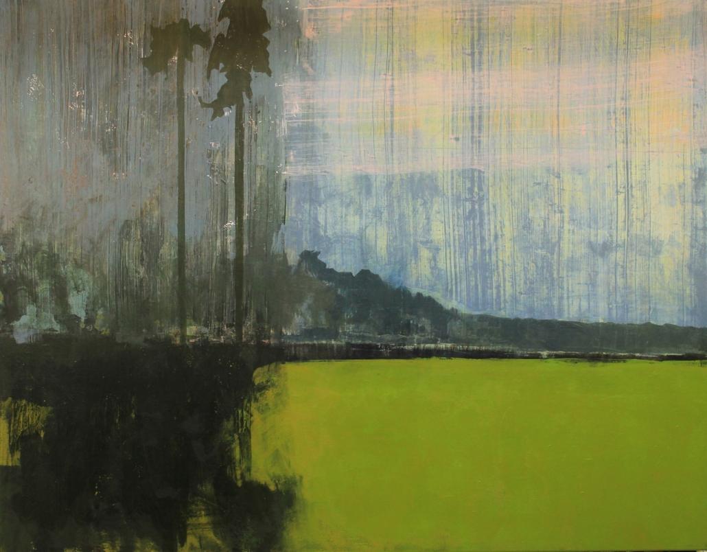Flat Earth, acrylic on canvas 110 x 140 cm POA