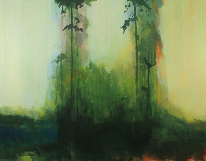 Pleasure Garden, acrylic on canvas 110 x 140 cm POA