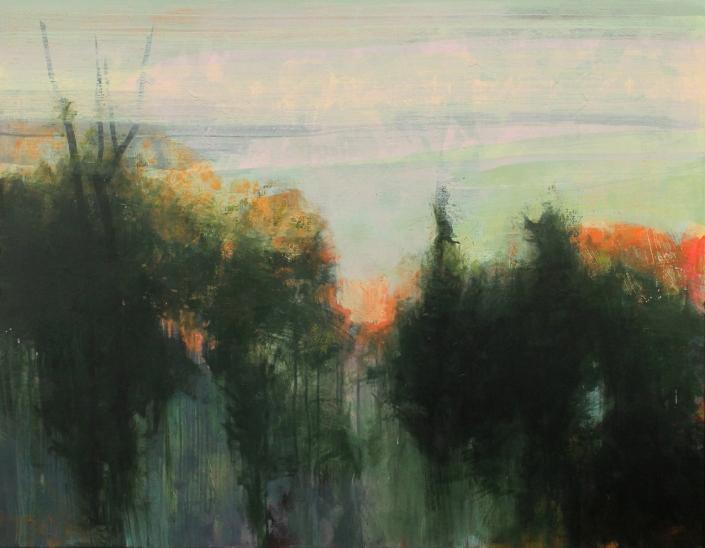 Wild Fire, acrylic on canvas 110 x 140 cm POA