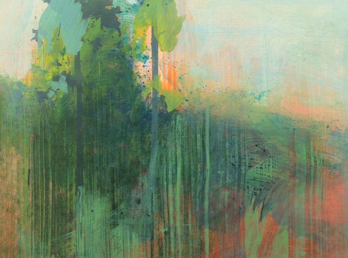 Wildwood 1, acrylic on paper 46 x 61 cm POA