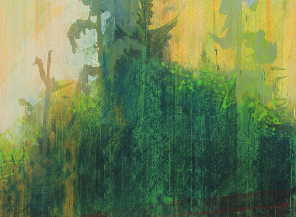 Wildwood 3, acrylic on paper 46 x 61 cm POA