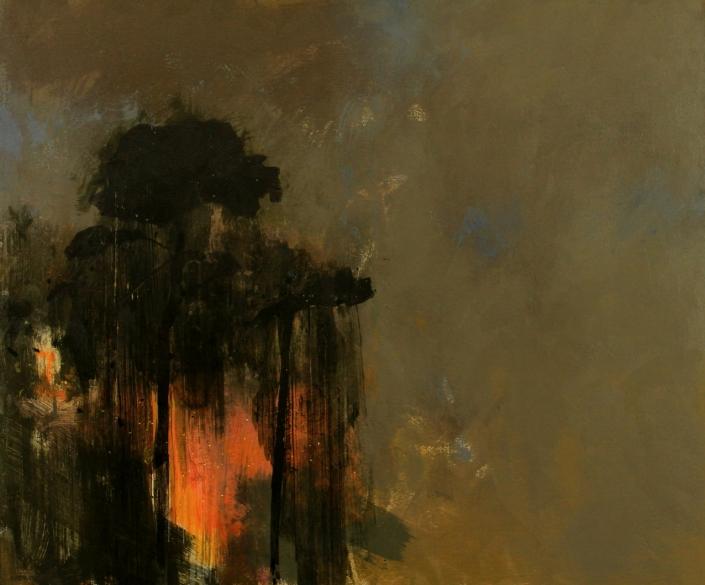 Fireflies, acrylic on canvas 76 x 91 cms POA