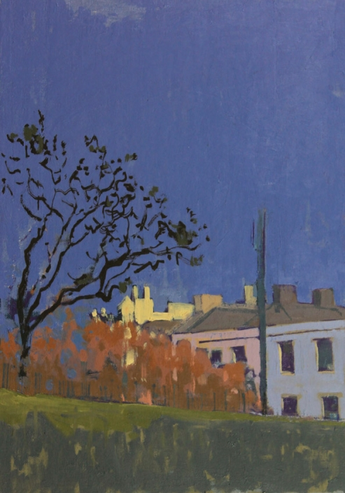 Stanhope Place, oil on board 40 x 30 cm POA