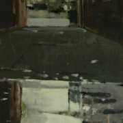 Flooded Alleyway, oil on board 30 x 20 cm