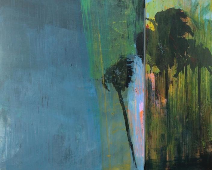 Scintillation, acrylic on canvas 90 x 112 cm POA