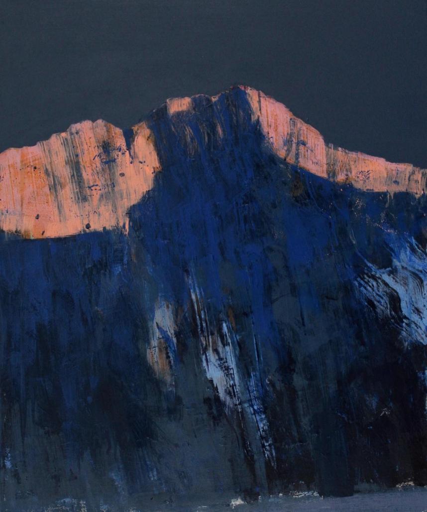 Alpenglow, acrylic on canvas 91 x 76 cm POA
