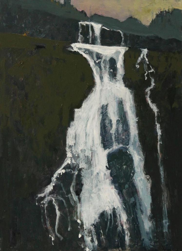 Cascade 2, oil on board 34 x 25 cm POA