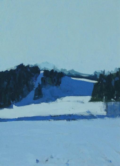 Distant Peaks, oil on board 40 x 30 cm POA