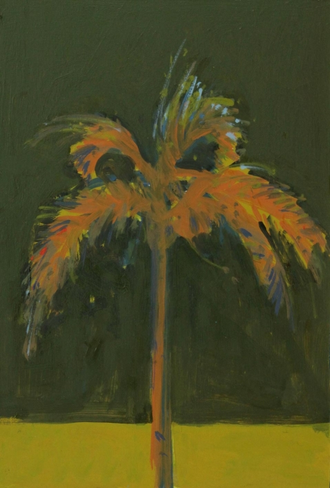 Green Palm 2, oil on board 30 x 20 cm POA