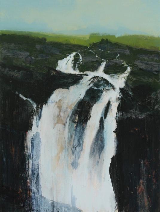 Torrent, acrylic on canvas 120 x 90 cm POA