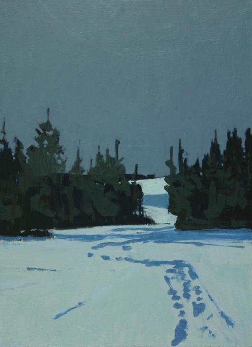 Trail, oil on board 40 x 30 cm POA
