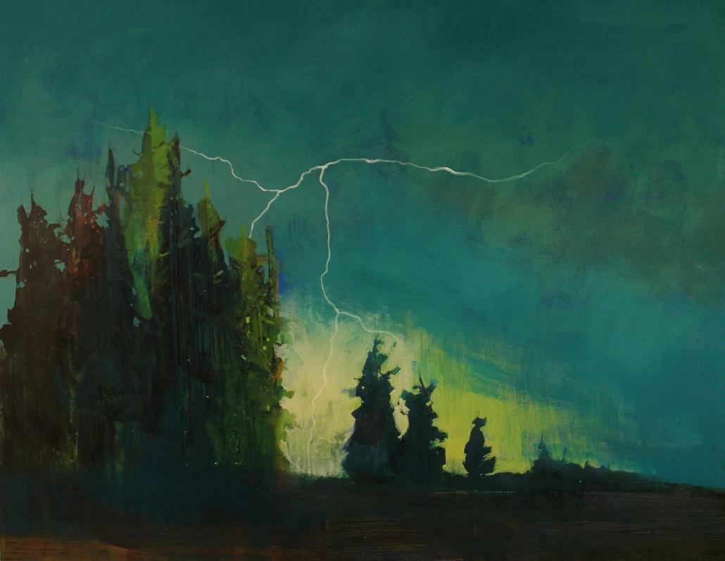 Rumble, acrylic on canvas 110 x 140 cm POA